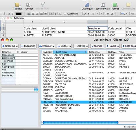 Exportation de données 8sens vers un tableur
