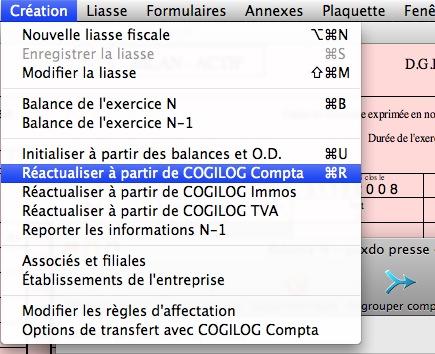 Synchronisation des informations avec Cogilog Compta
