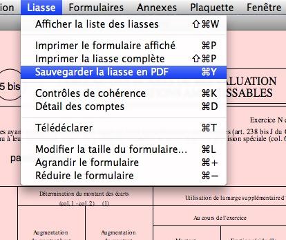Sauvegarde de la liasse au format PDF