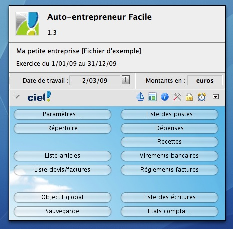 Ciel Auto-entrepreneur Facile Mac