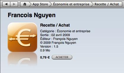Achat de Recette / Achat