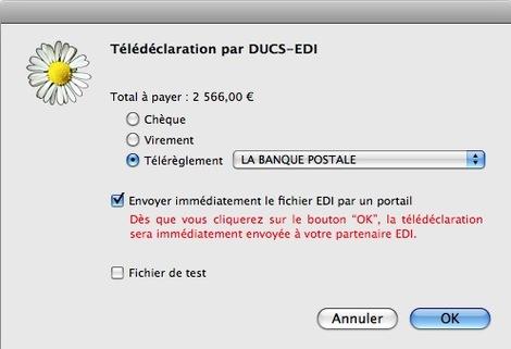 Télédéclaration par DUCS-EDI