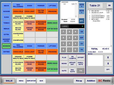 BC Resto : Gestion de restaurant tactile sur Mac -- 19/05/10