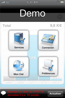 Paramètres de Ciel Business Mobile