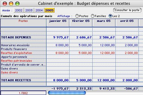 ciel compta libérale mac: budget