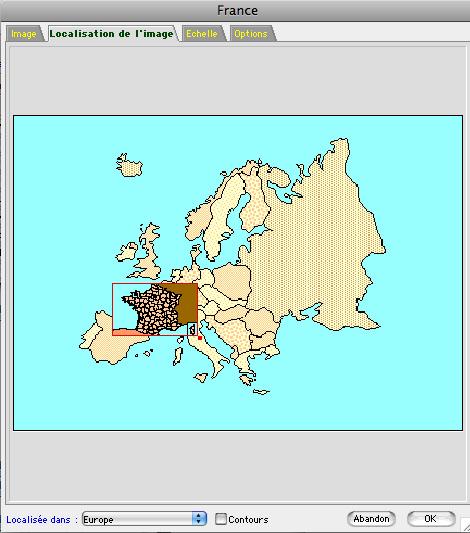 Positionner une carte géographique dans une autre avec Ciel Gestion Commerciale Mac *