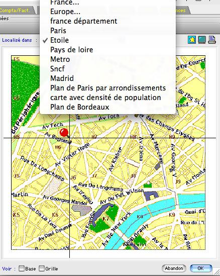 type de carte géographique Logiciel de caisse et de gestion pour Mac   Ciel Gestion