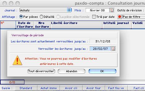 Etat comptable édité par Ciel Compta Mac *