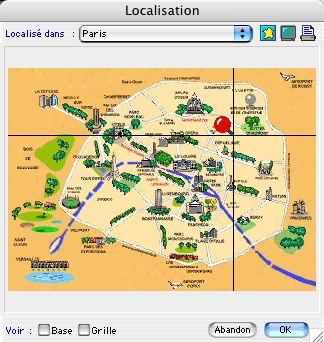 Ciel Gestion Mac: une des cartes de localisation