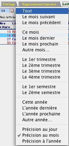 Le calendrier dans Ciel Compta Mac