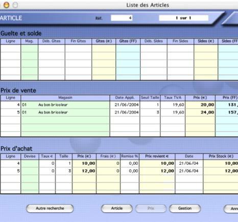 logiciel de caisse kinhelios TPV pour Mac: les soldes