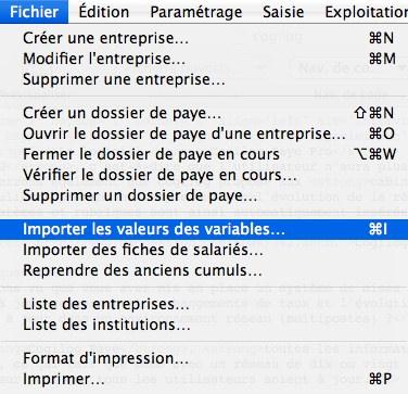 Cogilog Paye Pro: importation des variables du client
