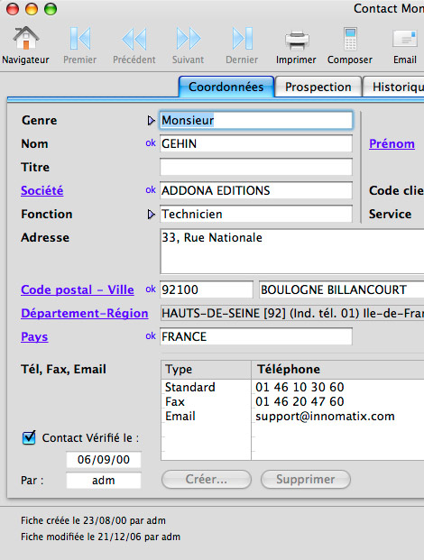 Easy Contacts�* : Envoi de SMS - Appel automatique d'un contact via Skype * - Champs personnalis�s -- 01/02/12