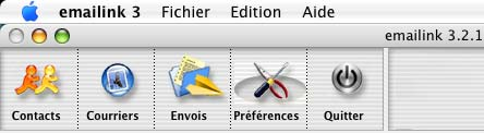 emailink: le menu