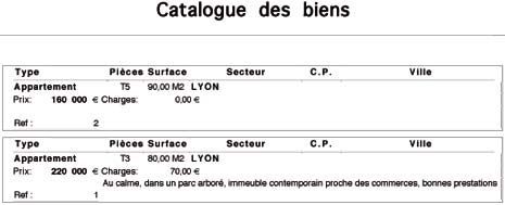 immo image: catalogue de biens