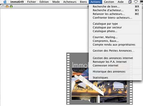 logiciel mac immo image: menu