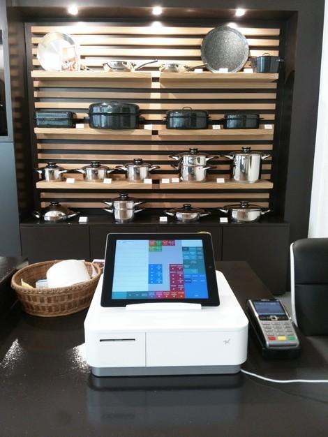 La caisse Star mPop pilotée par le logiciel de caisse Melkal sur iPad