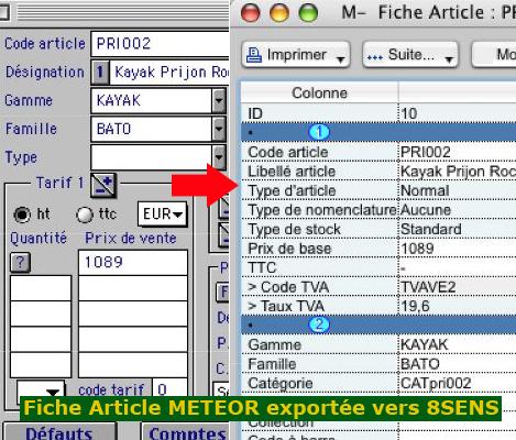 Meteor et 8sens: une même fiche article