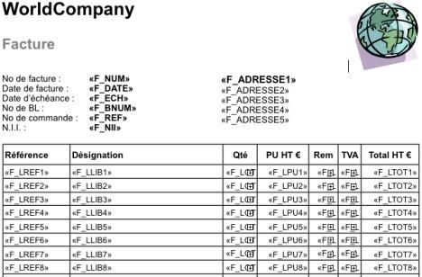 Tous Comptes Faits Entreprise: modèle de facture dans Apple Pages